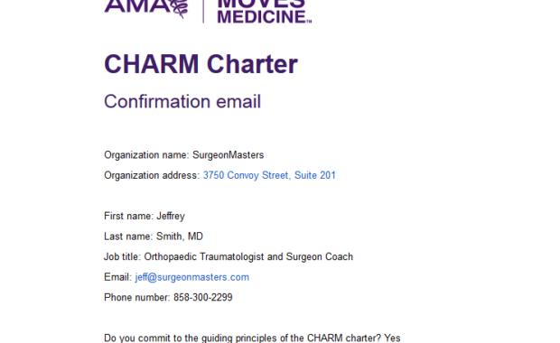 CHARM Charter