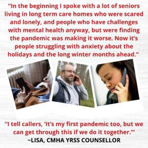 Lisa, CMHA YRSS counsellor, quote on 12 Days of Giving and Receiving