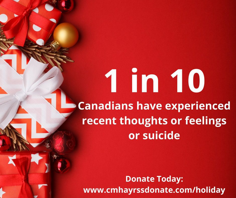 1 in 10 Canadians have experienced recent thoughts or feeling or suicide