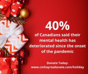 Poster of 40% of Canadians said their mental health has deteriorated since the onset of the pandemic.