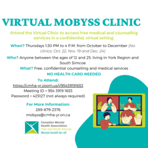 virtual mobyss clinic to access free medical and counselling services