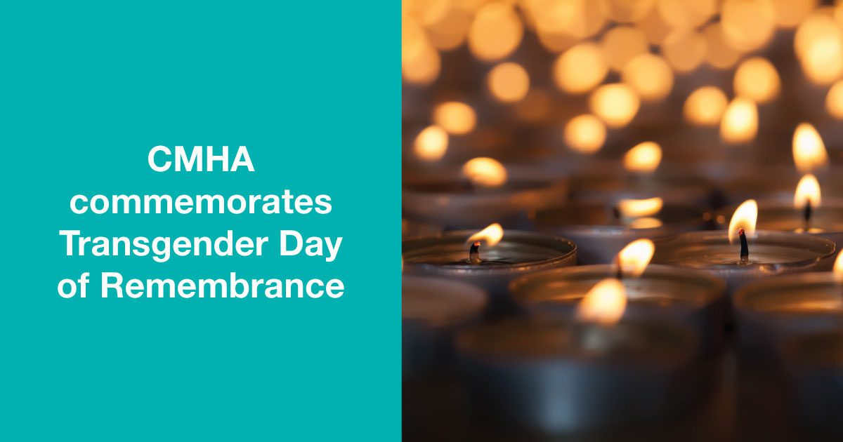 CMHA Commemorates Transgender Day Of Remembrance