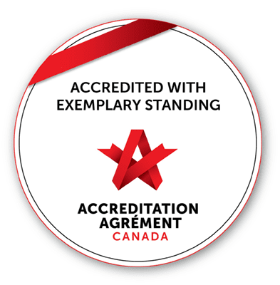 accreditation agrement canada, accredited with exemplary standing
