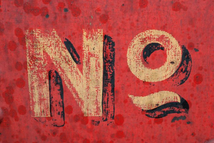 """Graphic of """"no"""" sign"""