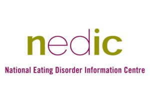 National Eating Disorder Information Centre logo, green and purple