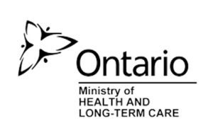 Ontario Ministry of Health and Long Term Care logo, black