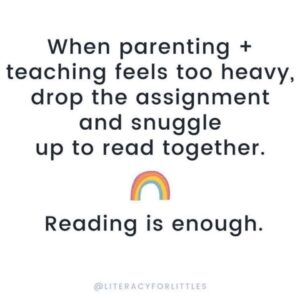Reading is enough sign, when parenting and teaching feels too heavy