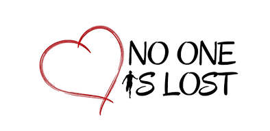 No One Is Lost logo, black and red