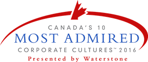 Canada's Most Admired Corporate Cultures logo, red and blue