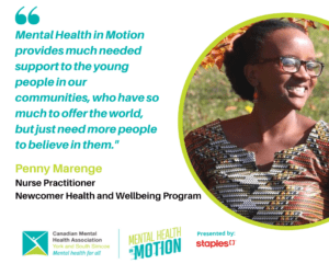 Mental Health in motion provides much needed support to the young people in our communities, who have so much to offer the world, but just need more people to believe in them.