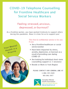 Telephone Counselling for Frontline Healthcare and Social Service Workers