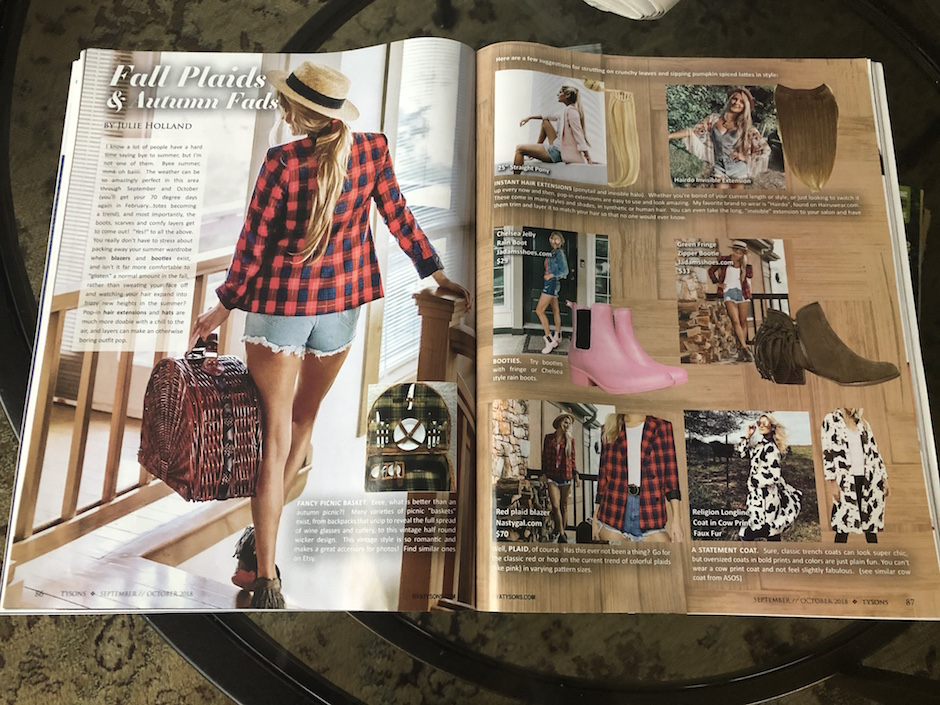 Viva Tysons Magazine fall 2018 Fashion Julie Holland