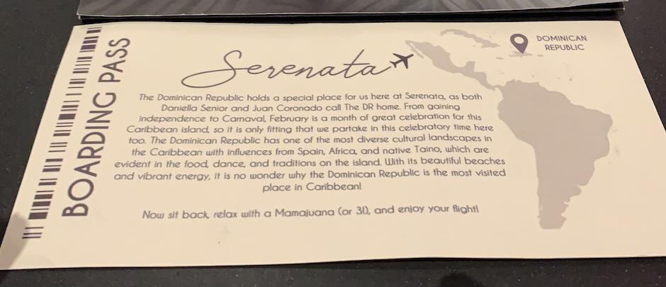 Serenata Boarding Pass DC