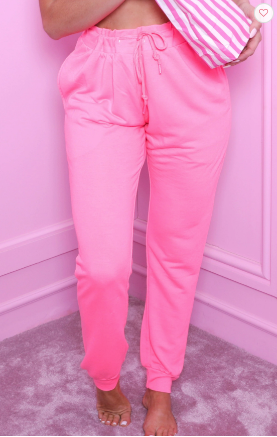 Femme Luxe Pink Joggers