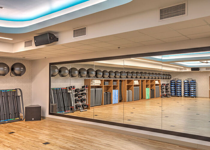 Recreational Project | Featured Project: Rochester Athletic Club fitness floor