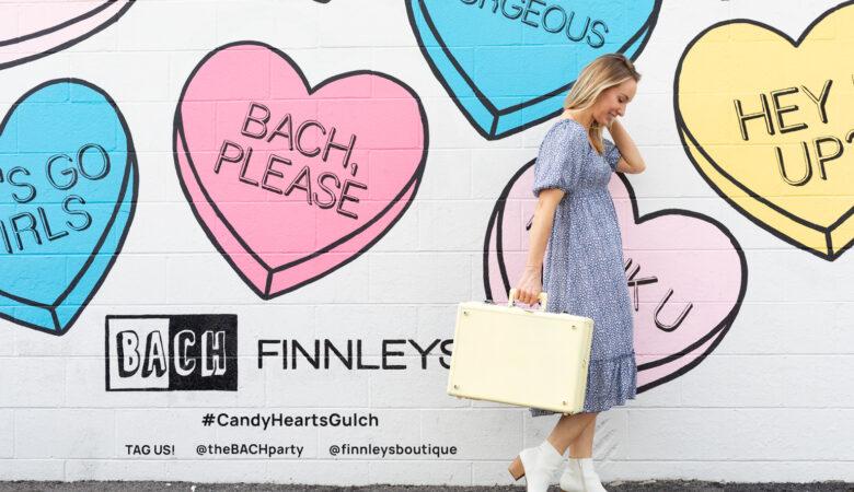 Candy Heart Wall Mural Nashville