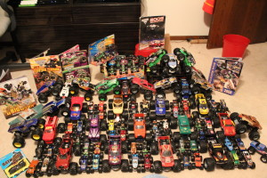 Part of my Monster Jam truck collections