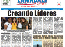 """Lawndale News Newspaper, Page 1 story in Spanish on """"The King's Pawn"""" published July 19, 2018."""