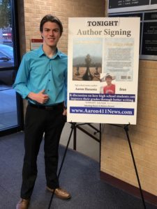 """Aaron Hanania author signing for his book """"The King's Pawn"""" at the Oak Lawn Library Oct. 25, 2018"""