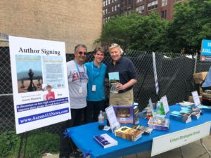 Celebrities dropped by including former Chicago Mayoral Candidate and Chicago Alderman Bob Fioretti (right) with Aaron Hanania, (center), and his father former Chicago City Hall reporter Ray Hanania