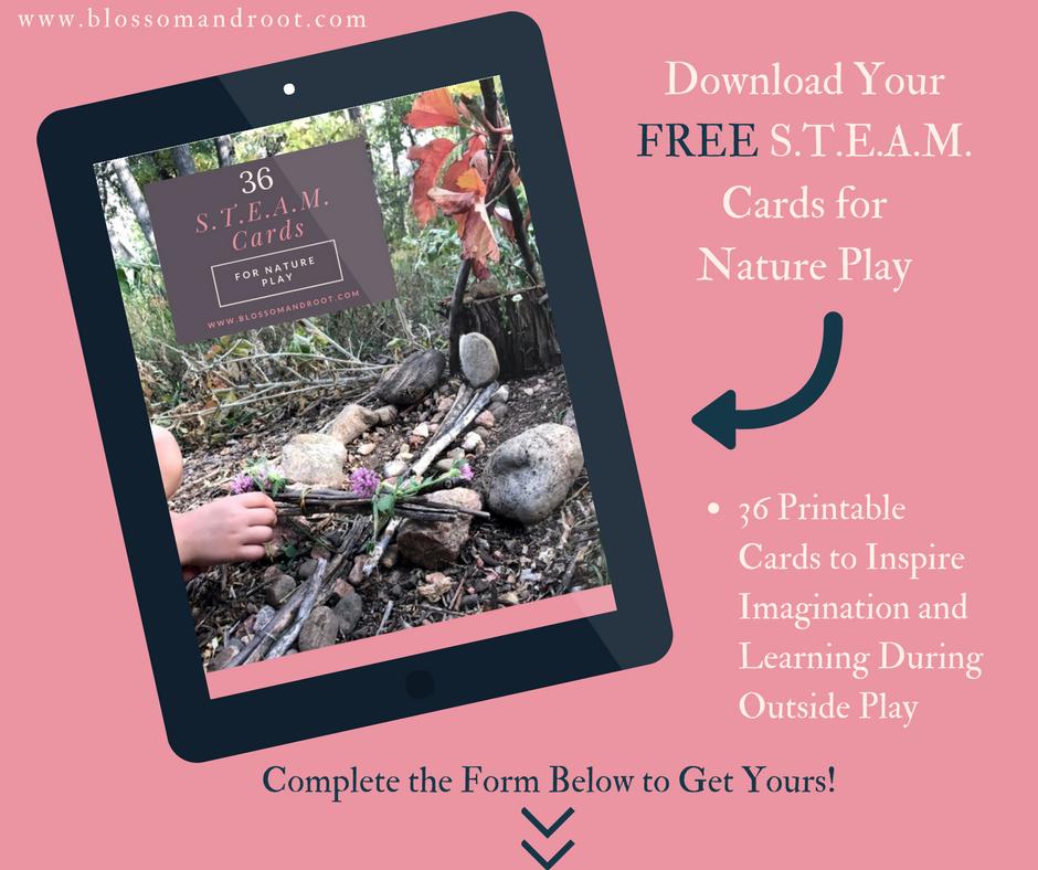steam in nature study freebie for homeschool