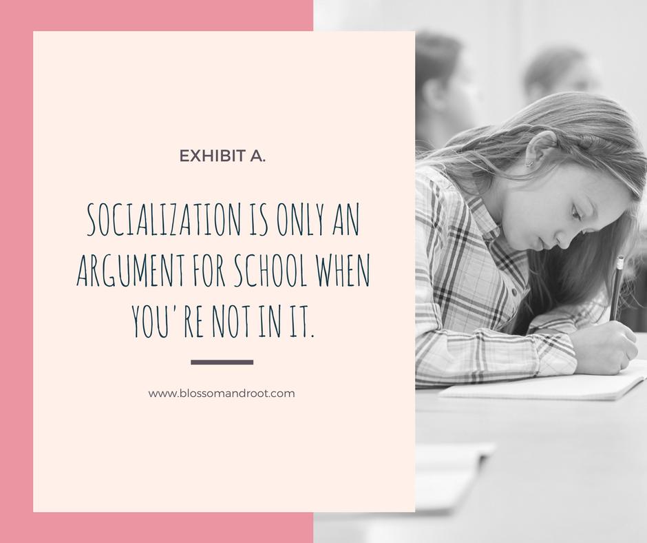 socialization and homeschool