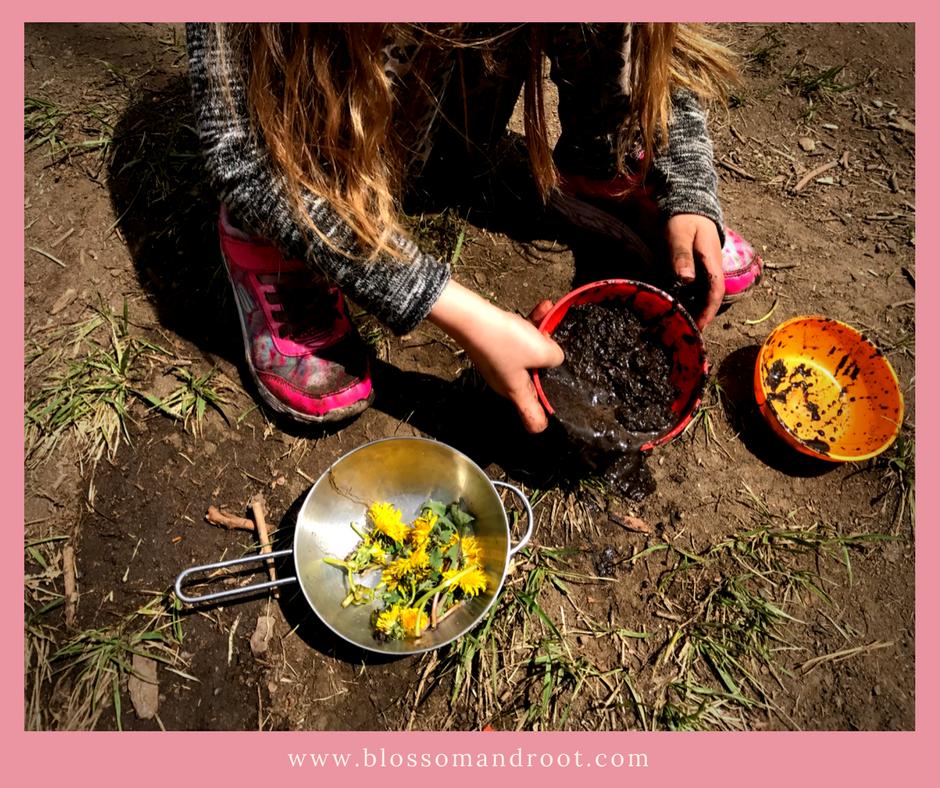 homeschool enchantment mud kitchens