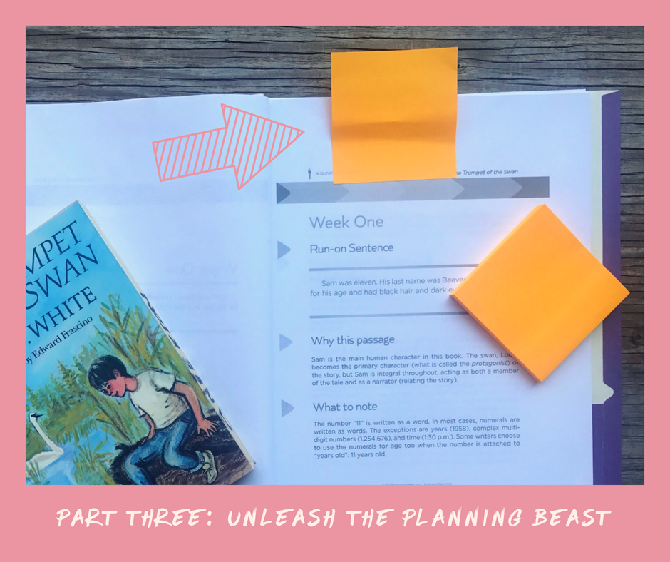 homeschool planning minimalist