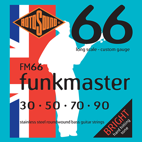 Rotosound Funkmaster FM66 Foil Swing Bass Mark King electric bass guitar strings set Funk Master