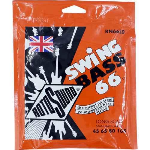 Rotosound RN66LD Swing Bass strings. Steel nickel roundwound round wound swingbass bass wire precision jazz Rickenbacker 4003 John Entwistle bajo guitare rock metal standard gauge regular bright