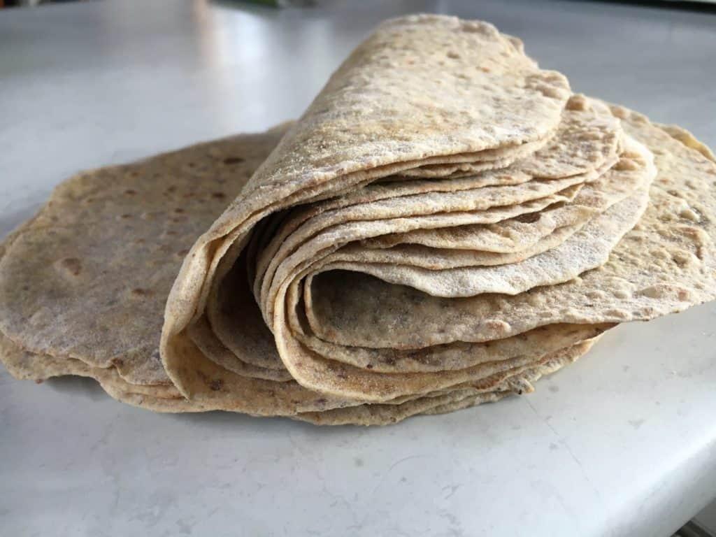 High fibre wraps