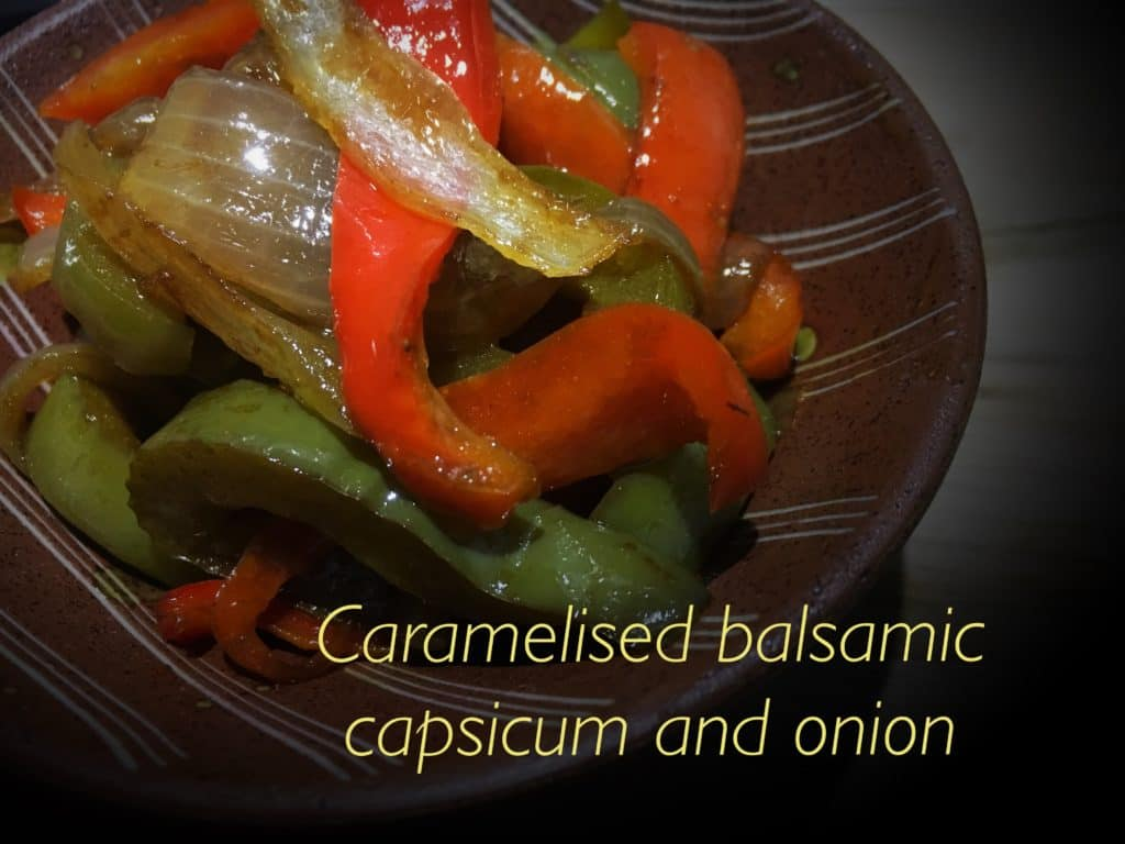 Caramelised Balsamic Capsicum and Onion-Sides-Everydaywits