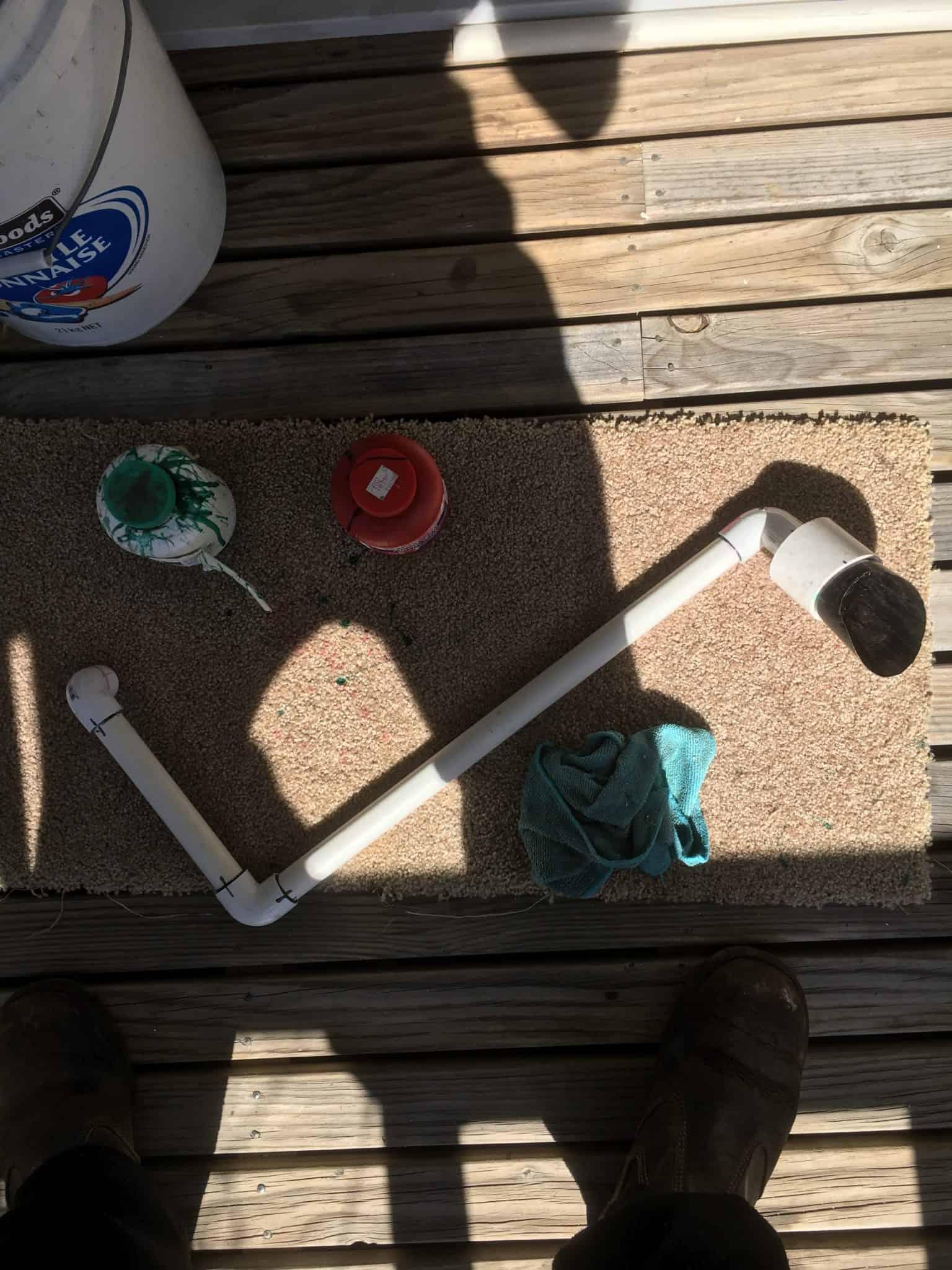 Patio aquaponic system build