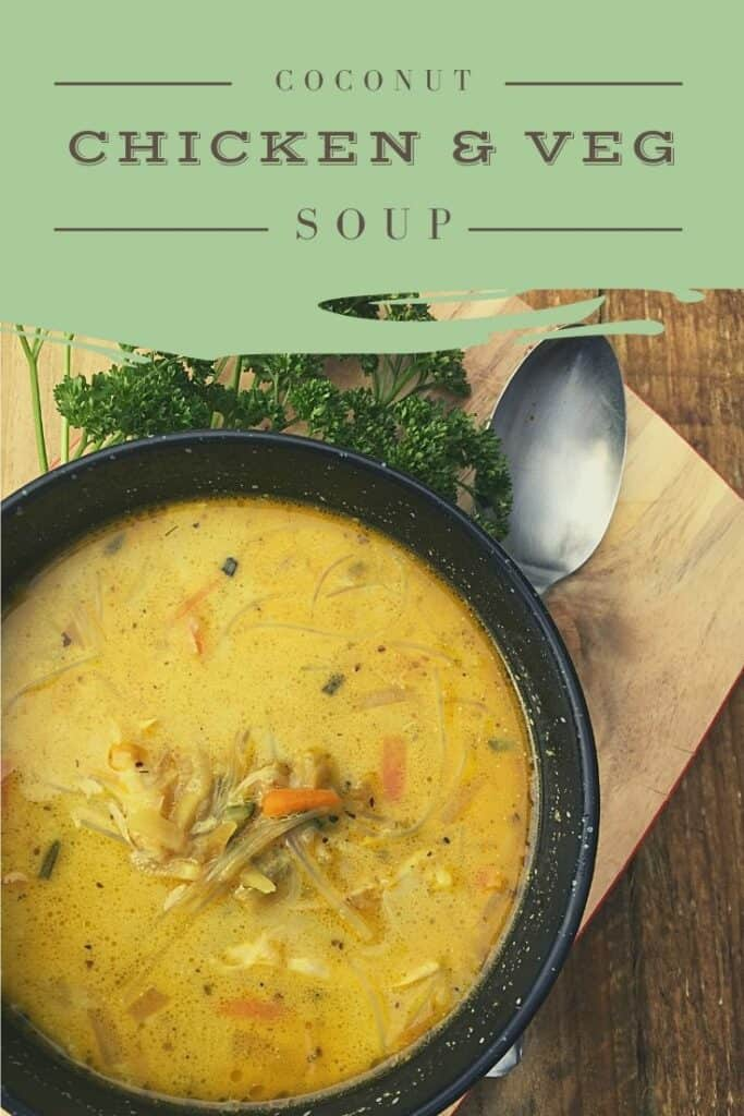 Coconut Chicken and Veg Soup