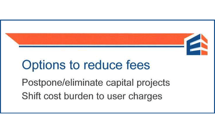 What does Ehlers say about Shakopee's water utility fees and charges?