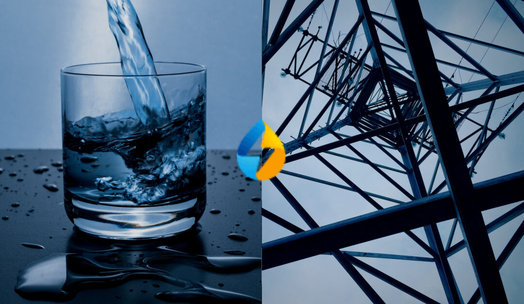 Water glass and electrical pylon