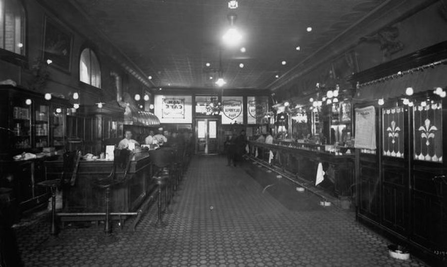 The J&M Cafe and Cardroom in Pioneer Square. Date unknown.