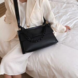 Fashion Large Capacity Women Pu Leather Shoulder Bag High Quality Ladies Hand Tote Bags Designer Female Handbags Messenger Bags