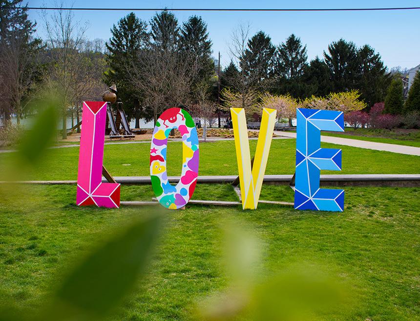 Allegheny River Trail Park - Love Installation