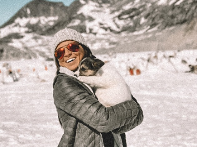 Sarah Bowmar with dog
