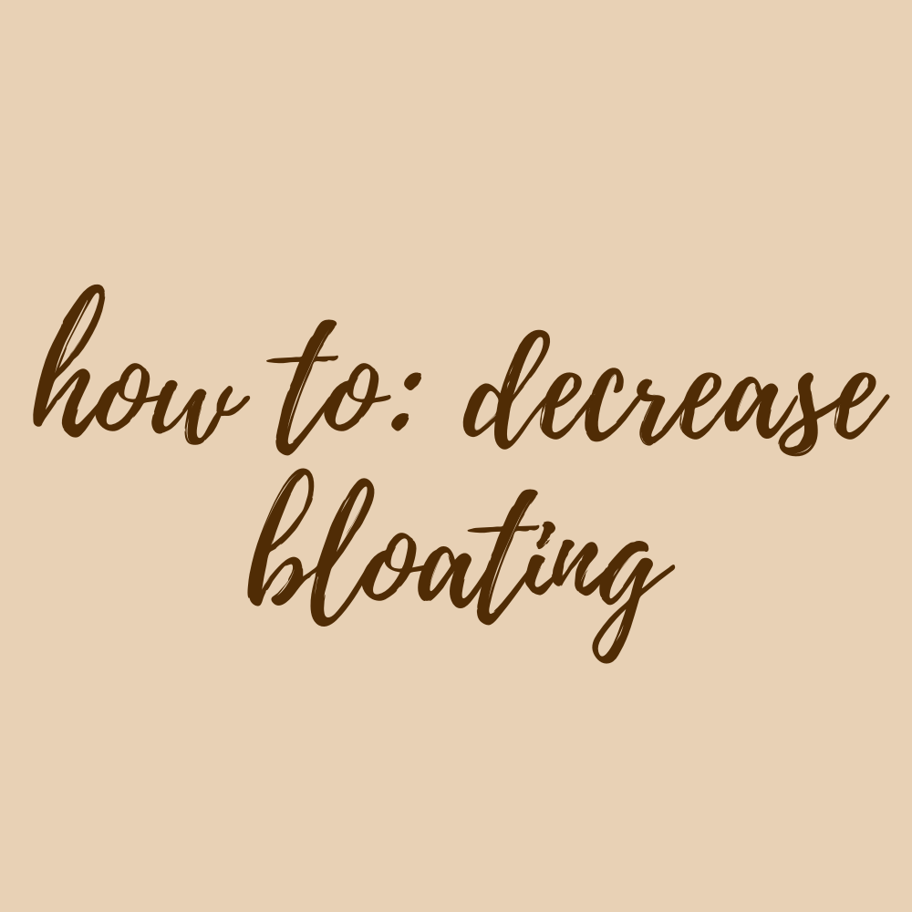How to Decrease Bloating Tips
