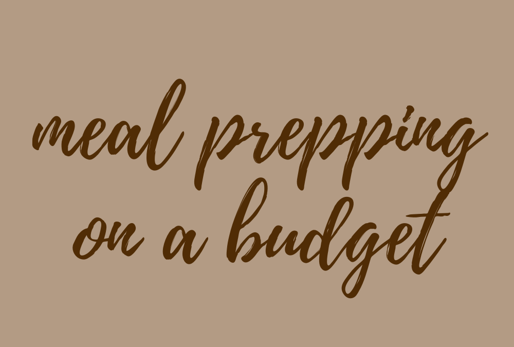bowmar nutrition meal prep on a budget