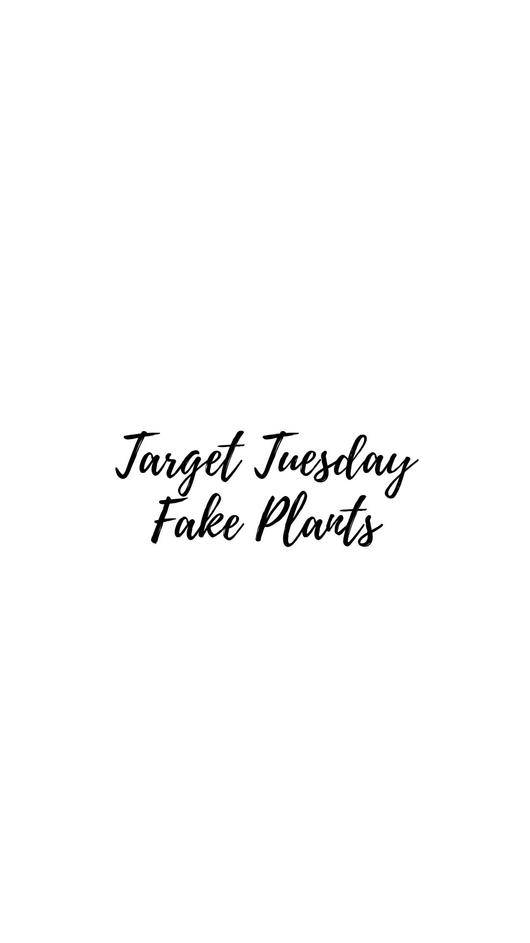 Target Tuesday- Fake Plants Galore