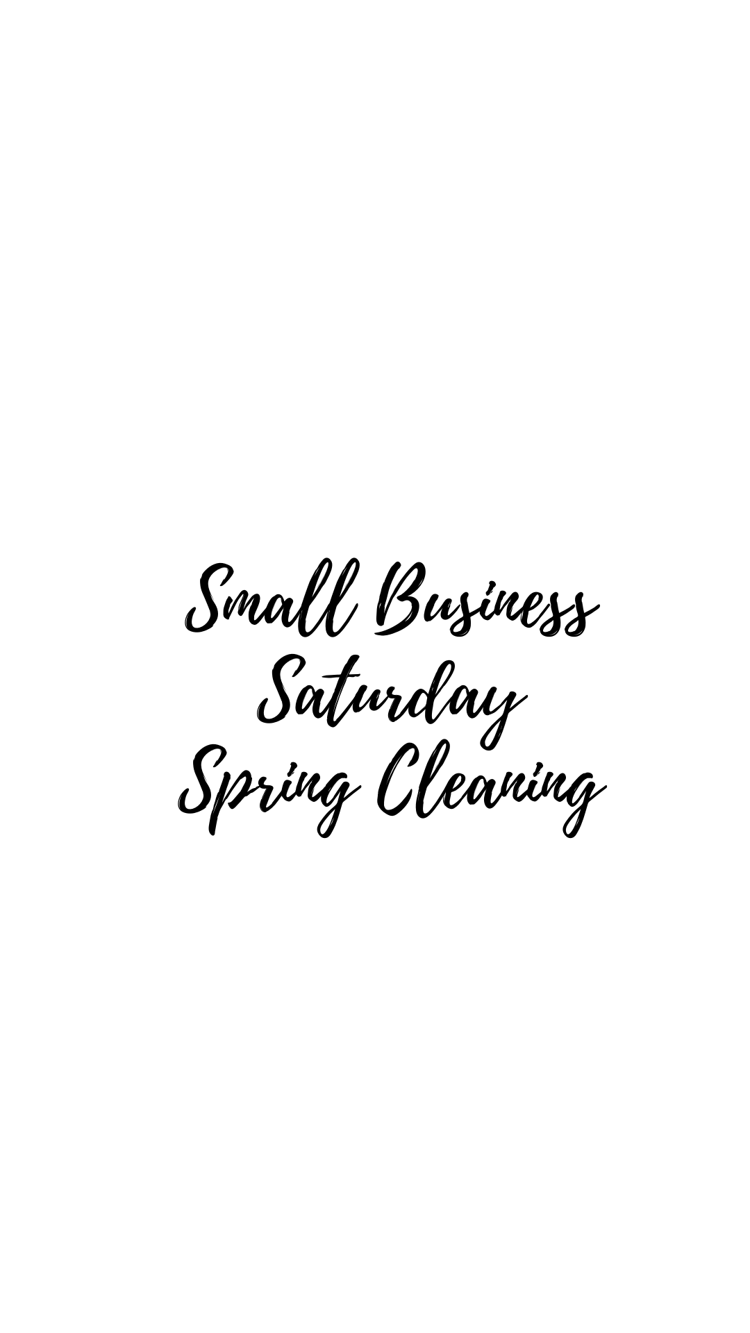 Small Business Saturday: Spring Cleaning