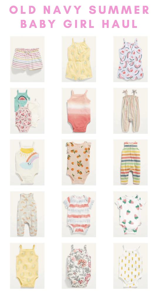 sarah bowmar old navy baby girl summer clothes
