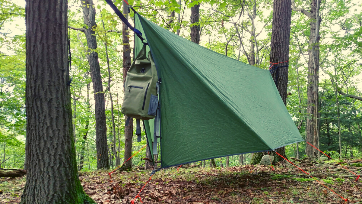 Overnight hammock camping Journeyman hammock camp