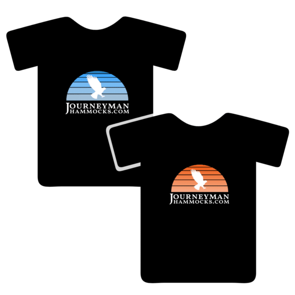 Vintage Journeyman Hammocks Women's T-Shirt Orange & Blue Options