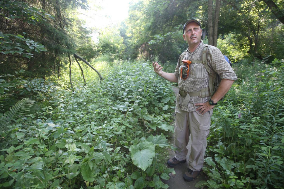 Instructor David Arama, leading a course in wild edibles.   Vince Talotta/Toronto Star