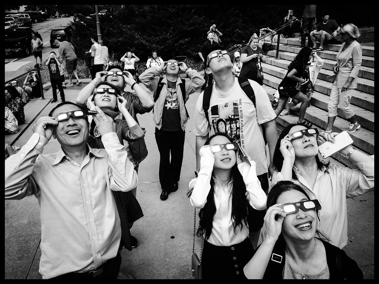 eclipse, solar eclipse, glasses