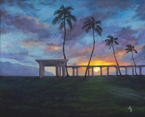 sunset painting Hawaii